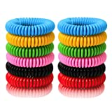 BuggyBands Mosquito Repellent Bracelets, 24 Pack Individually Wrapped, DEET Free, Natural and Waterproof Band