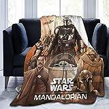 Las mantas Mandalorian ofrecen mantas decorativas para el sofá durante toda la temporada, mantas de forro polar suaves y cómodas mantas de viaje (M4,135 x 200 cm).
