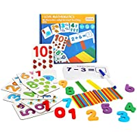 Cy-Zam Wooden Number Matching Puzzle Cards
