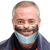 𝐌𝐀𝐒𝐐𝐔𝐄 Adulte Visage_Masque Coton Tissu Lavable et Réutilisable, Homme Femme Drôle Humour Imprimé Protecteur, Visage Nez élastique Respirant Protection Anti Poussiere