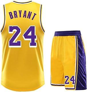 Usado para Kobe Bryant NO.24 Los fanáticos de Los Angeles Lakers Niños Niñas Camisetas de Pelota Azul Niños Adolescentes T...
