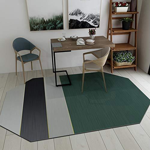 SN Huipeng Alfombra redonda grande moderna geométrica, sala de estar, dormitorio, irregular, lavable, no se desprende de la alfombra de decoración del hogar, 180 x 250 cm