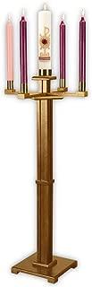 F A Dumont Church Advent Candleholder (Pecan)