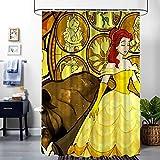 Duschvorhang aus Stoff, schöne Feen-Prinzessin, Duschvorhang, Badezimmer-Dekoration, schimmelresistent, wasserdicht, mit 12 Haken