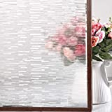 FEOMOS Ice Forest Window Film Decorative Glass Film Privacy Window Sticker Vinyl Static Cling Removable Glass Covering for Home Office Living Room UV Sun Blocking 35.4 x 78.7 inches
