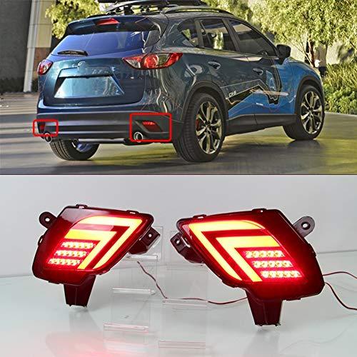 IIWOJ LED Reflektor Stoßstange Hinten Reflektor LED Rückleuchten Nebelschlußleuchte Bremslicht Fit Für Mazda CX-5 CX5 2013 2014 2015 2016,3 Functions