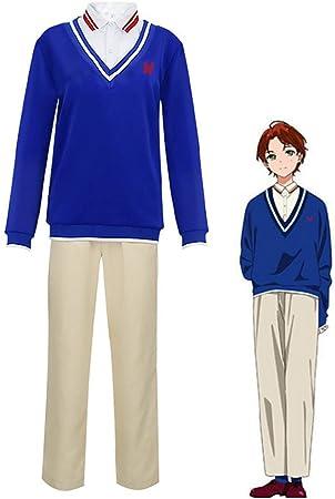 GGOODD Wonder Egg Priority Momoe Sawaki Hombres Suéter Azul ...
