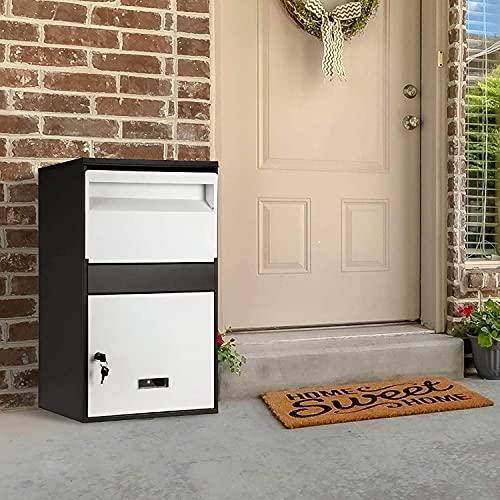 S SMAUTOP Paketbox, Paketkasten Briefkasten wasserdicht abschließbar Paketstation kontaktlos mit 2 Schlüsseln und Dämpfungsvorrichtung, für eingehende Lieferungen wenn niemand Hause(65 x 40 x 23 cm)