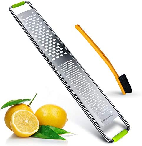 2 in 1 Lemon Zester and Cheese Grate Stainless Steel Fine Blades Citrus Zester with Cleaning product image