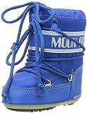 Tecnica MOON BOOT MINI NYLON NERO 140043 - Botas para niños, color Azul Claro, Talla 19/22