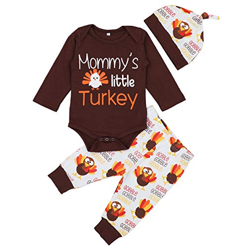 Von Kilizo Baby Boy Thanksgiving Outfit My First Thanksgiving Bodysuit Romper Pants Clothes Sets