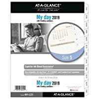 at-A-Glance 491-225-18 Day Runner Daily Planner Refill Two Page per Day Loose Leaf January 2019 - December 2019 8-1/2 x 11 Size 5 (491-225) [並行輸入品]