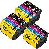 DOREINK 071XL T0715 XL Tinta Cartuchos de Tinta para Epson T0711 T0712 T0713 T0714 Multipack Compatible Epson Stylus Office BX300F BX610FW BX600FW Epson Stylus SX218 SX200 SX205 SX100 SX105 SX110