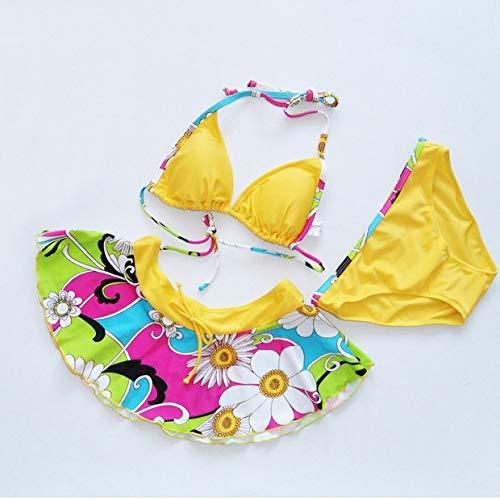 GUOZI Bikini Zuigelingen Meisjes Bikini Kids Bloem Print Rok Zwempak Fancy Badpak Badkleding Jurk Tweedelig Afzonderlijke Bikini Skirtini