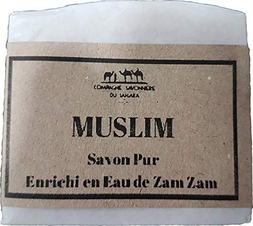 SAVON au Lait de Chamelle MUSLIM, enrichi en Eau de ZamZam, sans conservateur, sans produit chimique, colorant, parfum et sans huile de palme. Convient aux peaux réactives, très sensibles, atopiques