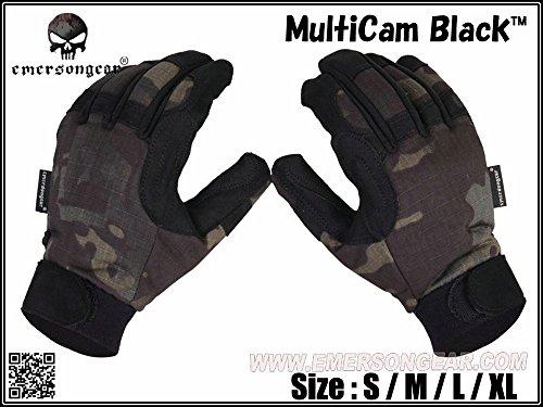 EMERSON製 ライトウェイト タクティカルグローブ 手袋 MultiCam Black マルチカムブラック (S)