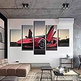 HD Poster 5 Stücke Supercar Leinwand Gemälde Lamborghini