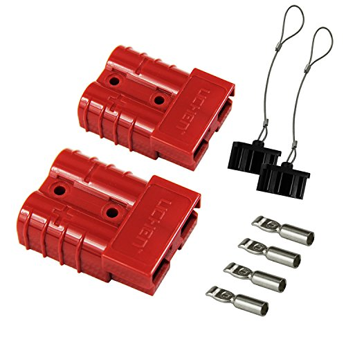 HYCLAT Red 6-10 Gauge Battery Quick Connect/Disconnect Wire Harness Plug Connector Recovery Winch Trailer | 12-36V DC, 50A