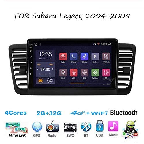Für Subaru Legacy 2004-2009 Navi Doppel-Din Autoradio Radio GPS Navigation 9-Zoll-Head-Unit Multimedia-Player Videoempfänger Carplay DSP RDS