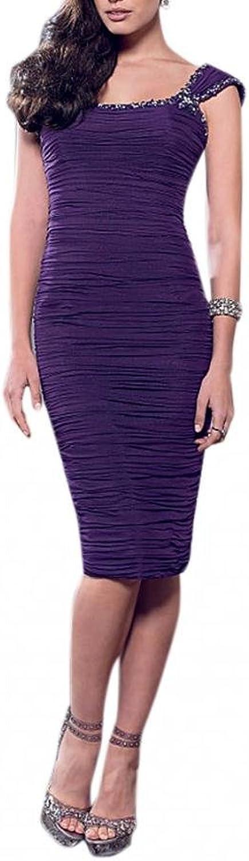 Dearta Women's Sheath Square Neckline KneeLength Social Ocassion Dress