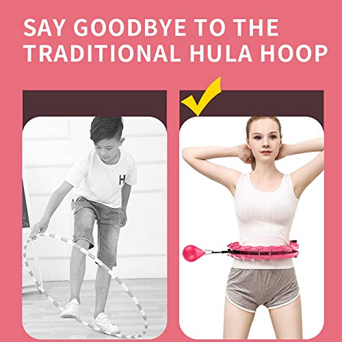 Nokiwiqis Smart Hula Hoop For Adults Weight Loss Fitness Exercise Adjustable Size Detachable Suitable for Adult Youth Beginners (Purple, 24 Section)