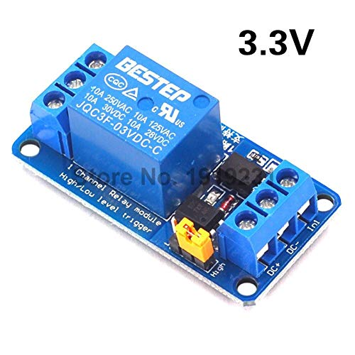 CCJW 1 Channel Relay Module for Arduino High and Low Level Trigger Dual Optocoupler Isolation 3.3V Relay Module (Size : 3.3V)