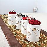 LIUTIAN Caddy de thé scellé en céramique, liège de Jute, Stockage Universel de Fleurs et Oiseaux Peut Conditionnement de boîte-Cadeau
