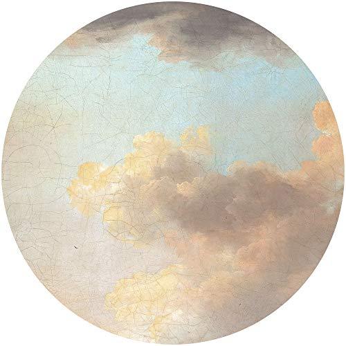 Komar DOT runde und selbstklebende Vlies Fototapete Relic Clouds - Ø Durchmesser 125 cm - 1 Stück - Tapete, Wolken, Himmel, Dekoration, Wandtapete, Wandbild, Wandbelag, Designtapete - D1-014