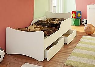 BEST FOR KIDS Barnsäng med skummadrass TÜV-certifierad med två lådor 90 x 180