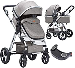 Blahoo Newborn Stroller Travel System Stroller for Reversible Bassinet Light Weight Strollers for Toddler with Dinning Tray(8001COFFEE)