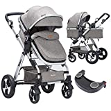 Blahoo Baby Stroller for Toddler .Foldable Aluminum Alloy Pushchair with Adjustable Backrest.Strollers Add Stroller