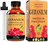 Geranium Essential Oil (4 oz), Premium Therapeutic Grade, 100% Pure and Natural, Perfect for Aromatherapy, Relaxation, Improved Mood and Much More by Mary Tylor Naturals