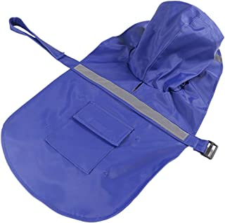 HSNMEY Pet Raincoat Waterproof Dog Lightweight Poncho Adjustable with Safe Reflective Strip