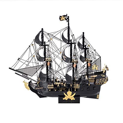 Piececool The Black Pearl 3D Metal Model Kits DIY Assemble Puzzle Laser Cut Jigsaw Toy