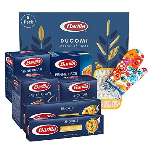 Ducomi Pacchetto 8 Articoli: Gnocchi, Penne Lisce, Pipette Rigate, Penne Rigate, Bucatini, Linguine, Guanto, Presina da Forno - Variety Pack Pasta 6 x 500 g - 3 Kg (Multipack 3)
