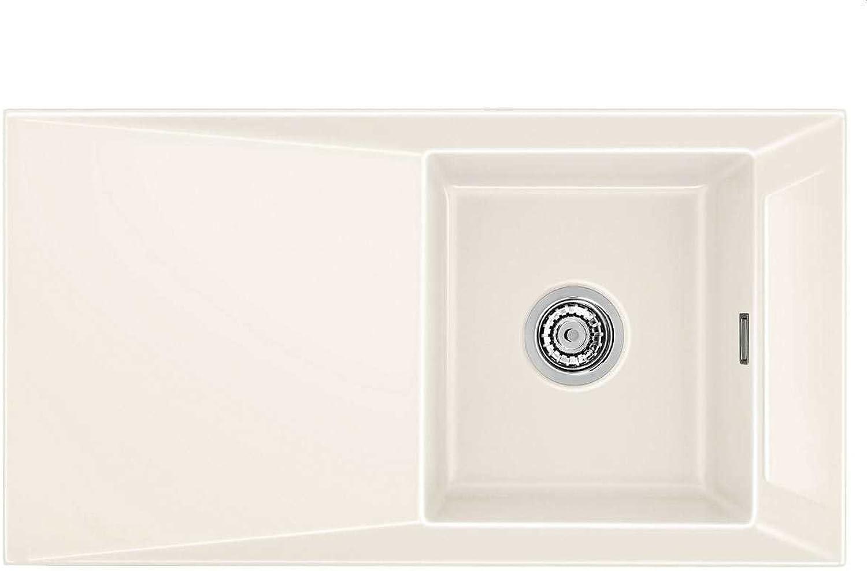 Systemceram Siro 90 Magnolie Keramik-Spüle Excenterbettigung Creme glnzend