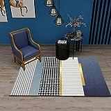 Alfombra 3D Mejora del hogar es Suave Luz nórdica Sala de Estar de Lujo Sofá de Dormitorio Oficina Alfombra de Oficina Alfombra de Piso A22 Antideslizante Lavable 80x130cm