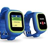 TickTalk 2.0 Touch Screen Kids Smart Watch, GPS Phone Watch, with New App, Positioning Chip, Things to Do Reminder, Phone/Messaging (SIM Card Included) (Blue)