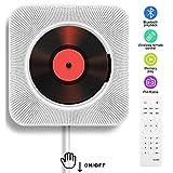 Lettore CD portatile con altoparlanti HiFi integrati da parete Bluetooth, Boombox audio pe...