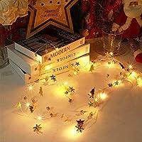 ファッション クリスマスライト2mがホーム飾りカーストクリスマスツリーの装飾のためのクリスマスの装飾のためのクリスマスライトを20LED 喫茶店 (Color : Snow Bell, Size : 2m 20 Led)