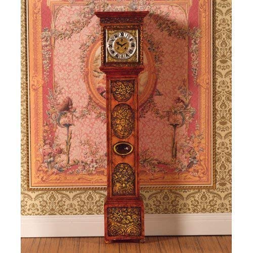 Dolls House Standuhr Grandfather Clock (Polyresin) 1:12 Puppenhaus 4875