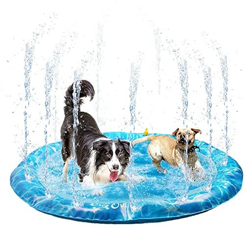 ALL FOR PAWS Dog Sprinkler Pad Mat, Outdoor Dog Cooling Splash Water Toys,...