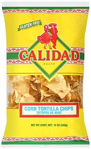 Calidad Yellow Corn Tortilla Chips, Gluten Free, Trans Fat Free, Mexican Restaurant Style Chips, 12 oz