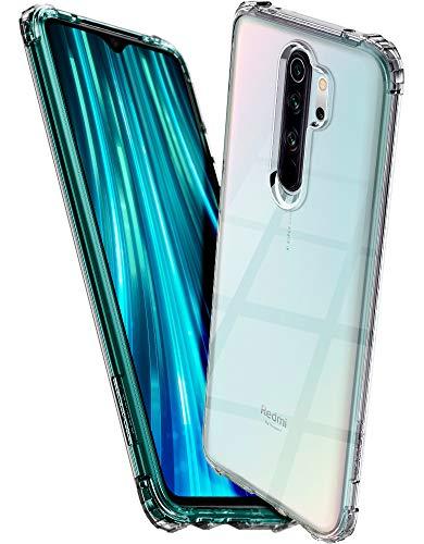 Spigen, Funda Compatible con Xiaomi Redmi Note 8 Pro [Crystal Shell] Protección Delgada de Gel Silicona y claridad Premium de TPU [Compatible con Carga Inalámbrica] - [Transparente] ACS00438