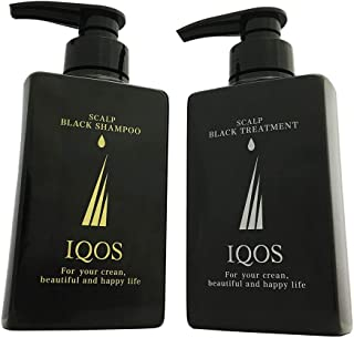 [ イクオス/IQOS ] スカルプ ブラックシャンプー&トリートメント セット 各250ml アミノ酸系洗浄成分 無添加 ノンシリコン 紀州備長炭