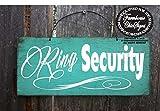 Queen54ferna Señal de seguridad de anillo, señal de boda, decoración de boda,...