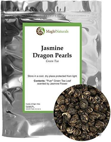 Imperial Jasmine Dragon Pearls Loose Leaf Green Tea Jasmine Green Tea with Amazing Aroma 4 oz product image