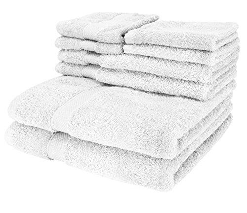 Cozy Homery Toallas de Lujo de 6 Piezas Blanco - 2 Toallas