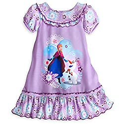 Purple Anna and Olaf Nightgown for Girls