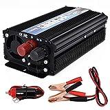 J-Love Onduleur Onduleur de Puissance 1000W, DC à AC 12V/24 à 110V/120V, Convertisseur de Voiture 1000W Type d'onde sinusoïdale modifiée pour Automobile avec Prises et Ports de Charge USB
